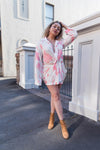 Smell The Roses Shirt Dress