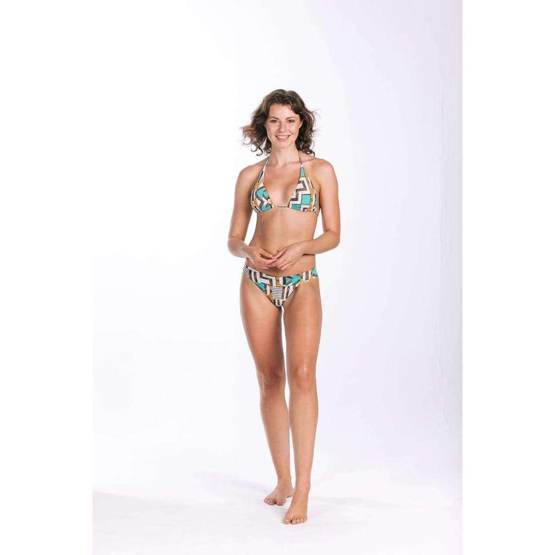 Rocky Blue Gold Palm Set - Bikini Set