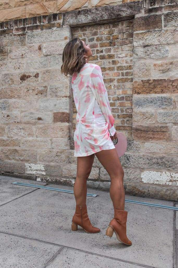 Smell The Roses Shirt Dress - Dress