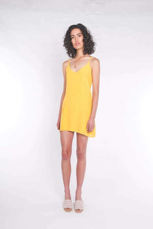 The Elle Mini Dress Sun Yellow - Dress