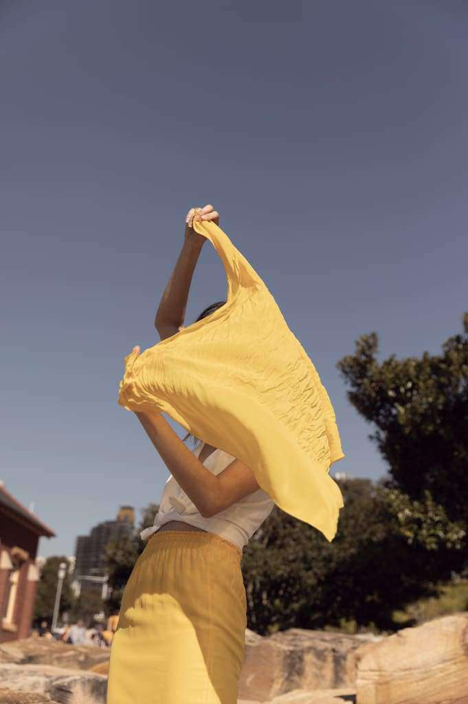 The Lady Scarf Top Sun Yellow - Top