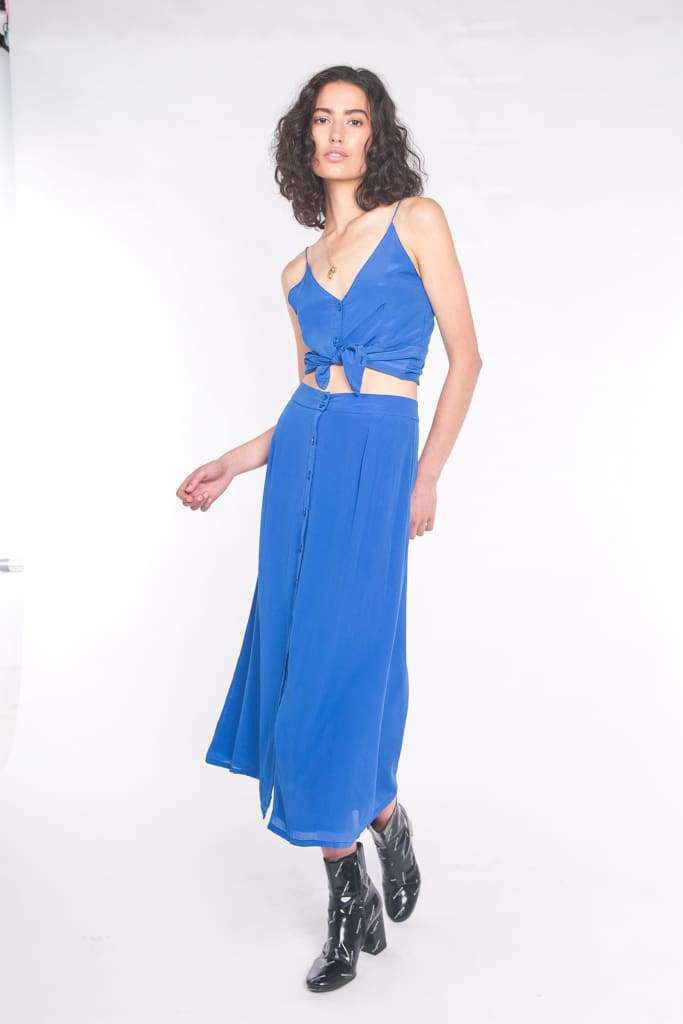 The Leela Cami Top Cobalt Blue - Top
