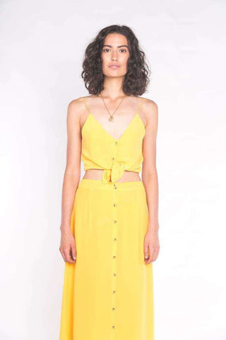 The Luna Maxi Skirt Sun Yellow