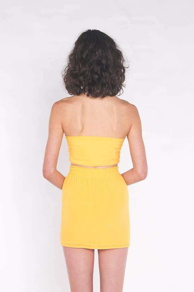 The Liv Mini Skirt Sun Yellow - Skirt