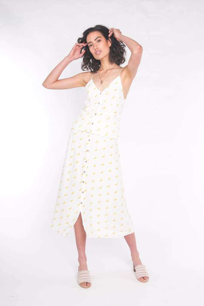 The Luna Maxi Skirt Banana Split - Skirt