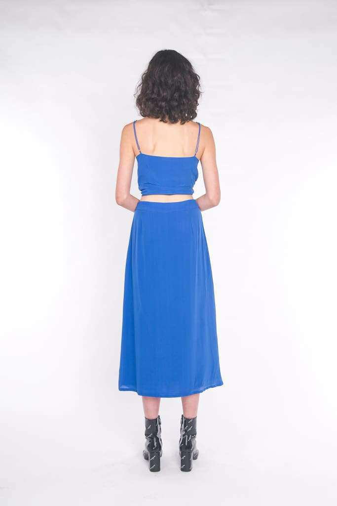 The Luna Maxi Skirt Cobalt Blue - Skirt