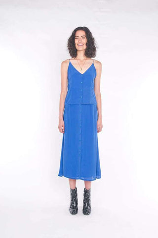 The Accalia Maxi Dress Cobalt Blue