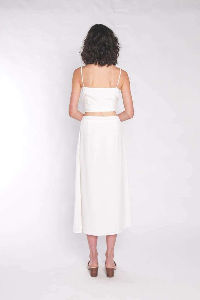 The Luna Maxi Skirt Coconut Milk - Skirt