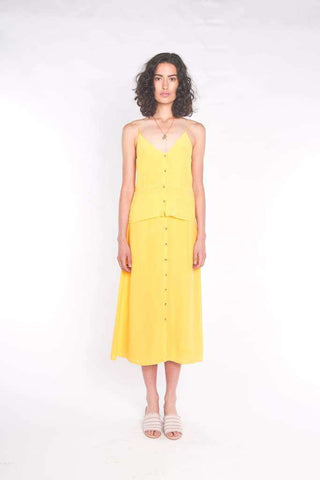 The Accalia Maxi Dress Banana Split