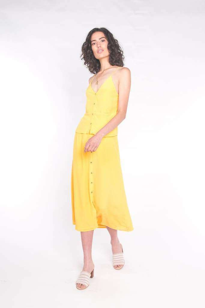 The Luna Maxi Skirt Sun Yellow - Skirt
