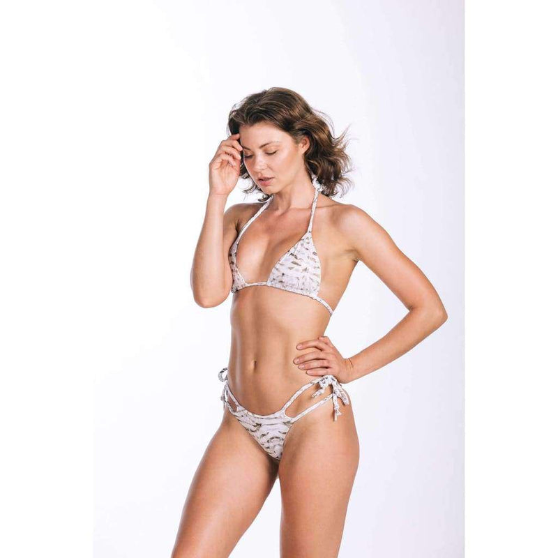 White Beige Brazilian Set - Bikini Set