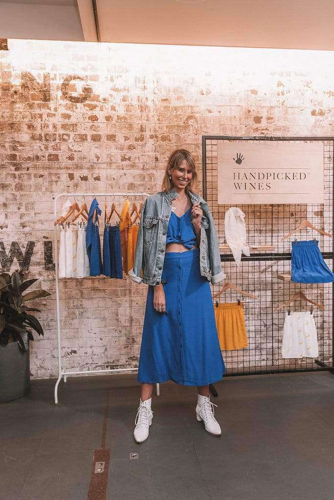 silk wolfe owner at pop up sale in sydney