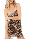 Flipmoda Leopard Sexy Mini Dress
