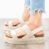 Flipmoda Daily Comfortable Pu Double Band Sandals