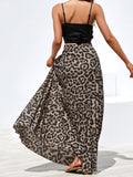 Flipmoda Leopard Printed Casual Long Skirt