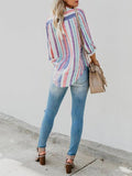 Flipmoda Multicolor Stripes Fashion Blouses