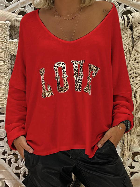 Flipmoda Leopard Love Printed Oversized Top