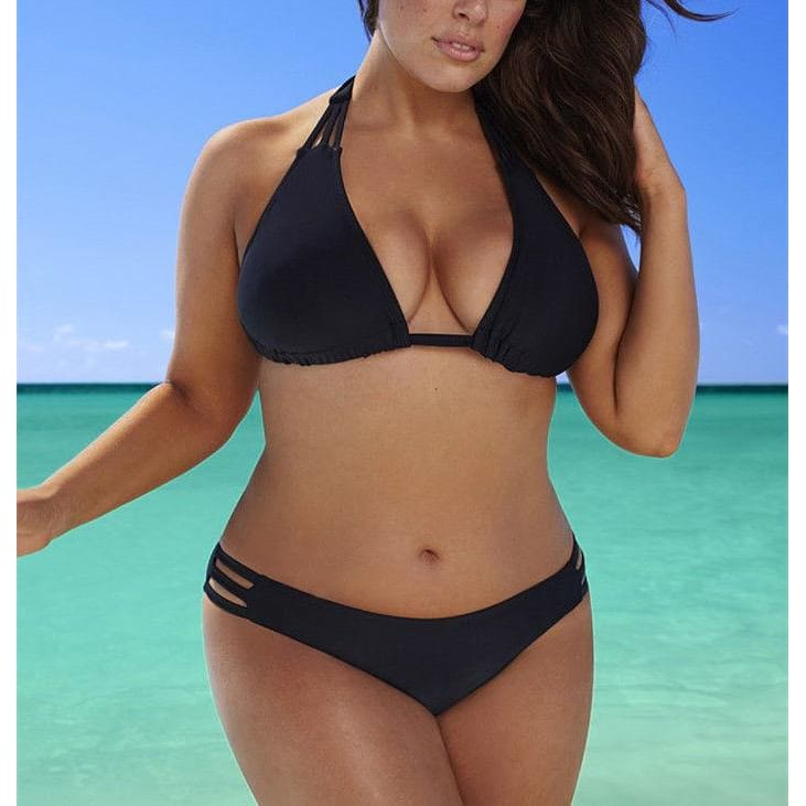 Sexy Bandage Bikini Set Plus Size | Black / XL | Be Sexy Everyday
