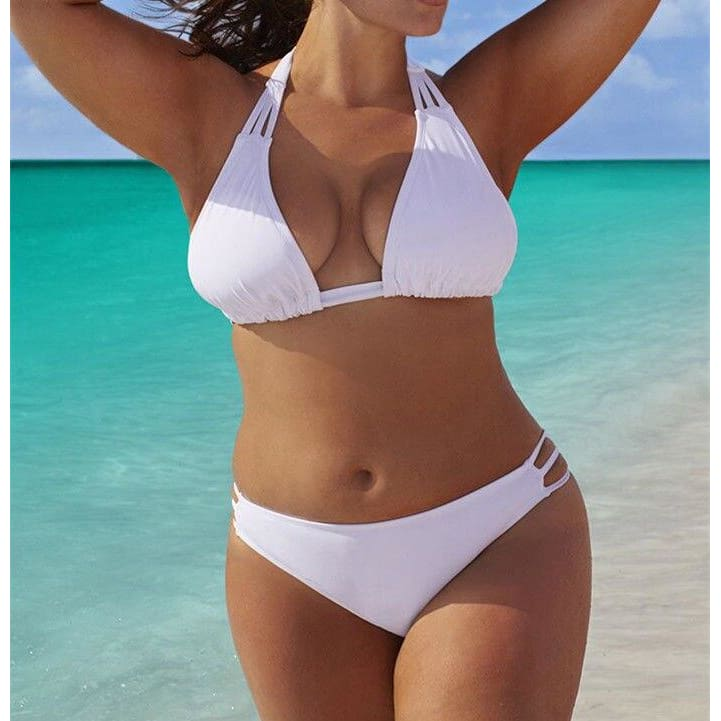 Sexy Bandage Bikini Set Plus Size | White / XL | Be Sexy Everyday