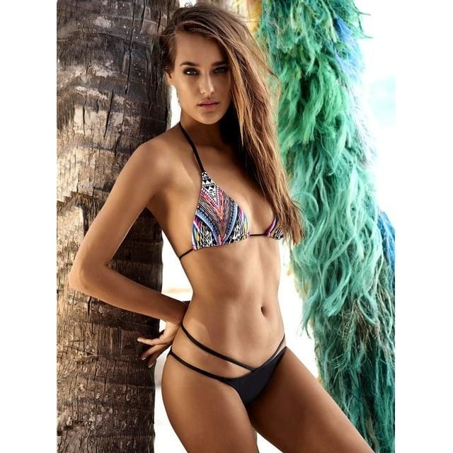Sexy Printed Bikini Set | Black / L | Be Sexy Everyday