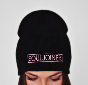 WOMEN'S BOX LOGO EMBROIDERED BEANIE - Soul Joiner