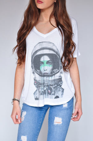 "WOMEN'S ""EXPLORER"" SPECIAL EDITION FLOWY V-NECK"