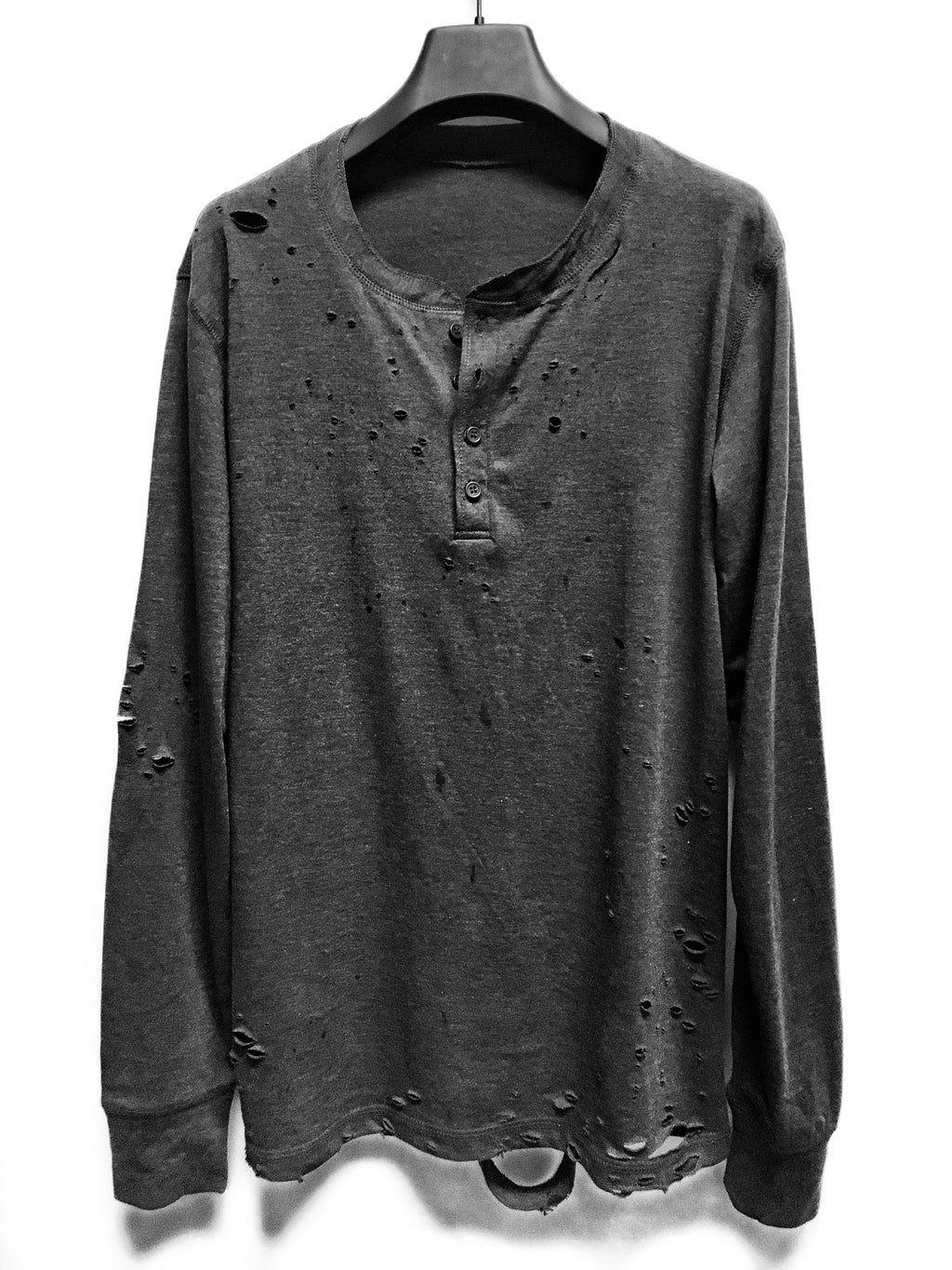 """RUPTURE"" HAND CUSTOMIZED MEN'S HENLEY"
