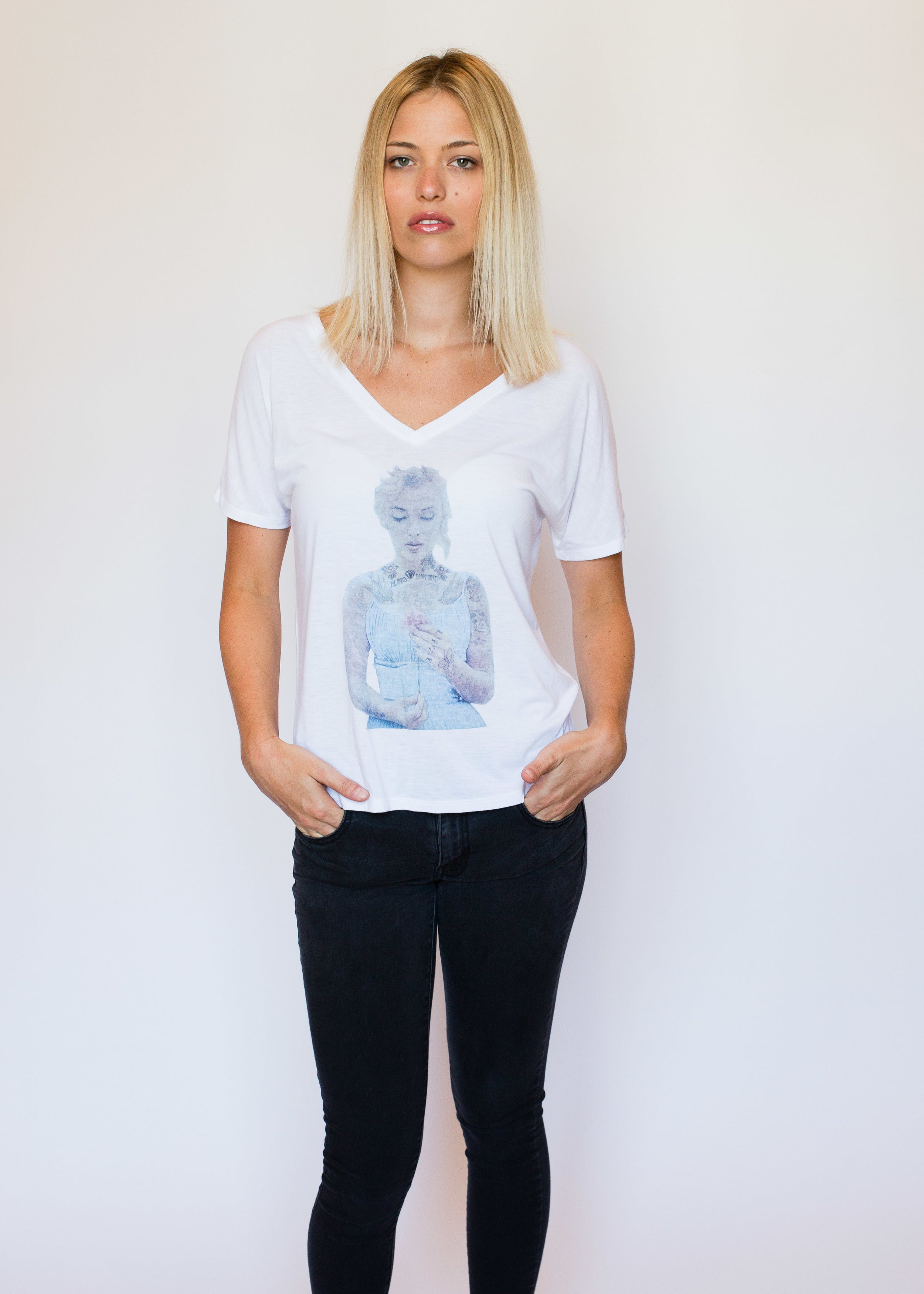 "WOMEN'S ""MARILYN"" SPECIAL EDITION FLOWY V-NECK"