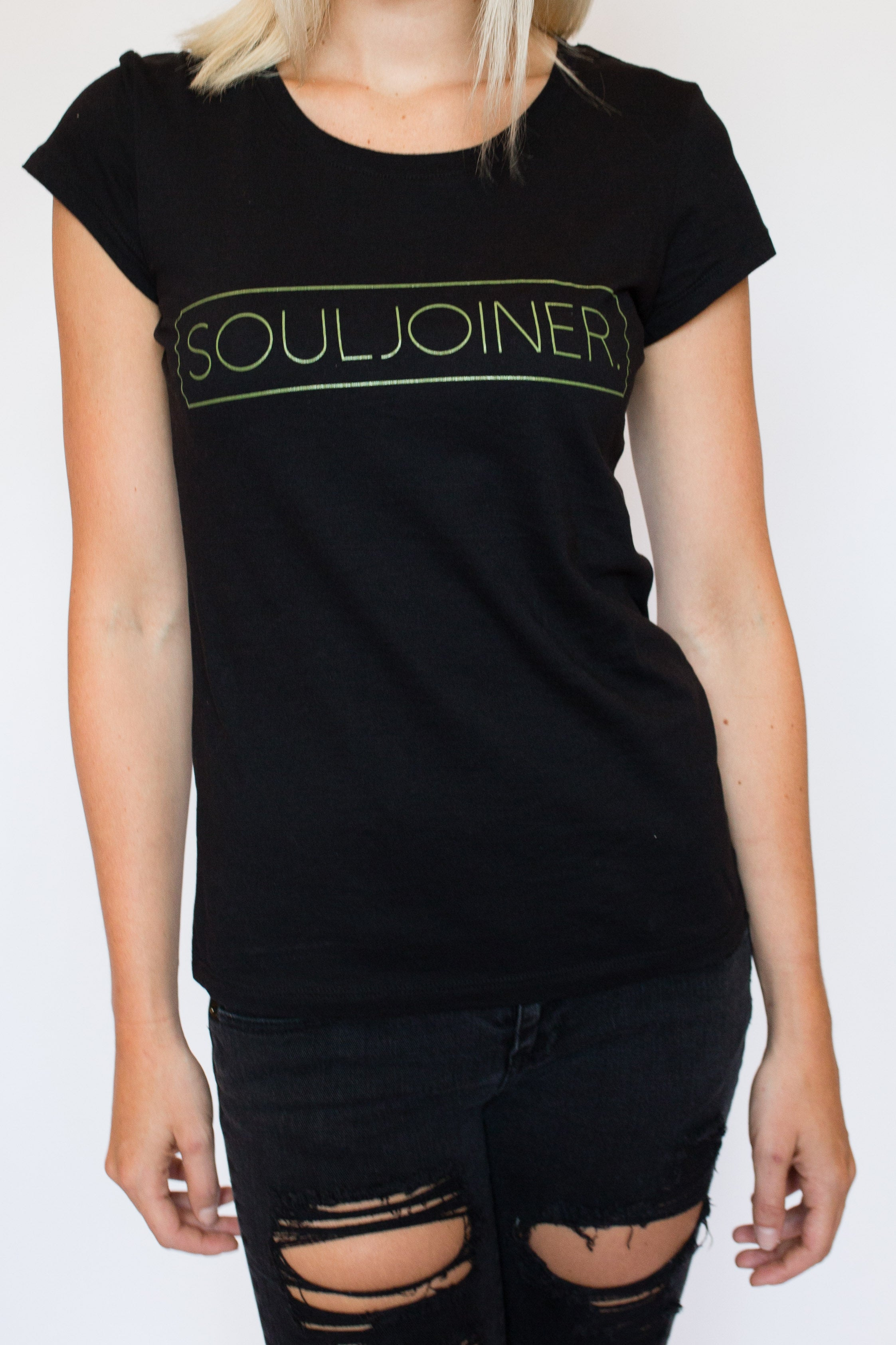 WOMEN'S BOX LOGO TEE - Soul Joiner