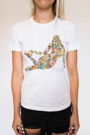 "WOMEN'S ""PINUP COLLAGE II"" CREWNECK TEE - Soul Joiner"