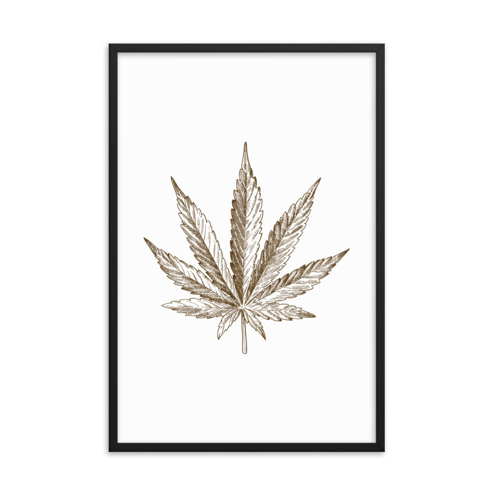 Cannabis Leaf Framed Poster
