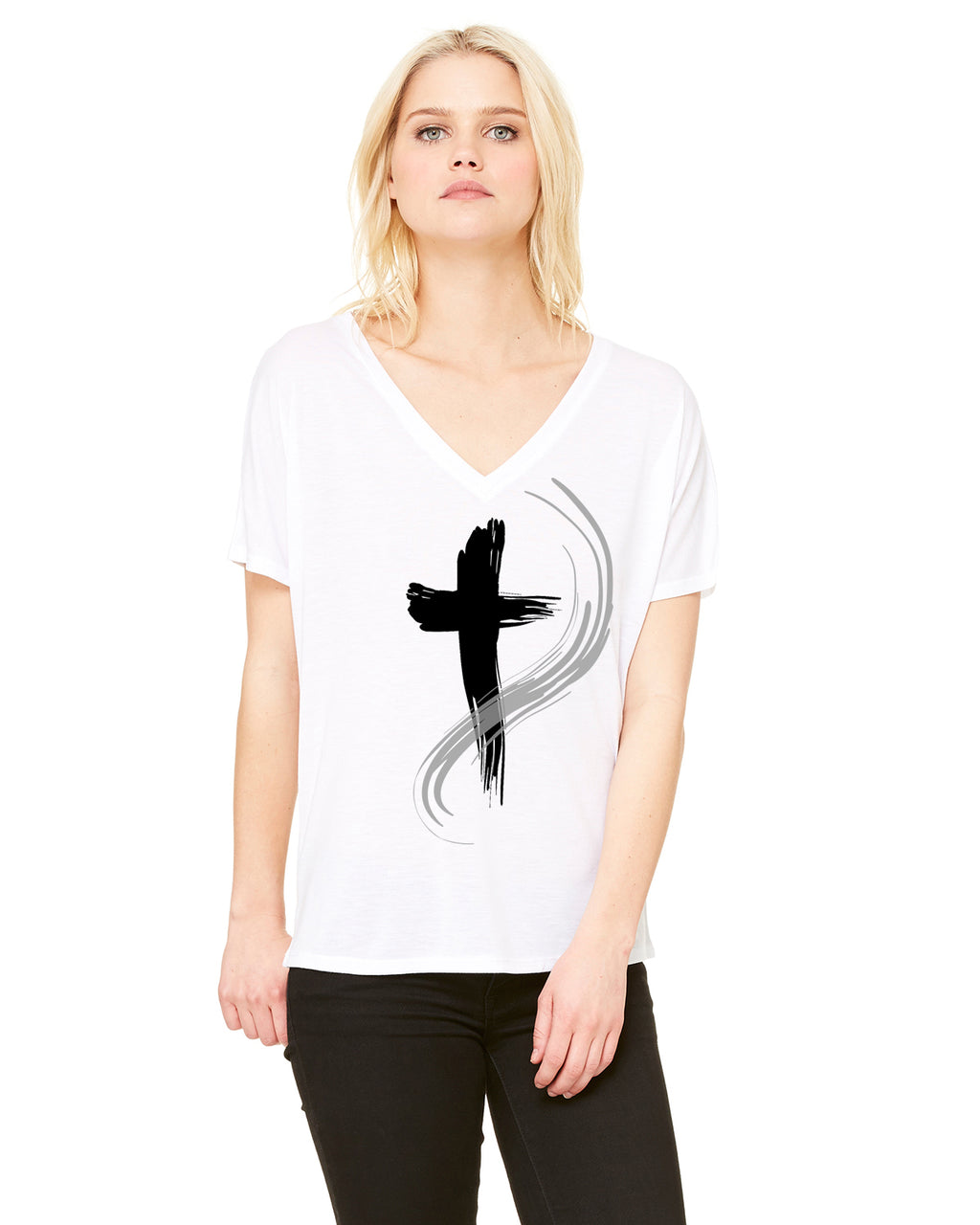 "WOMEN'S ""TRUE FAITH"" CREWNECK TEE"