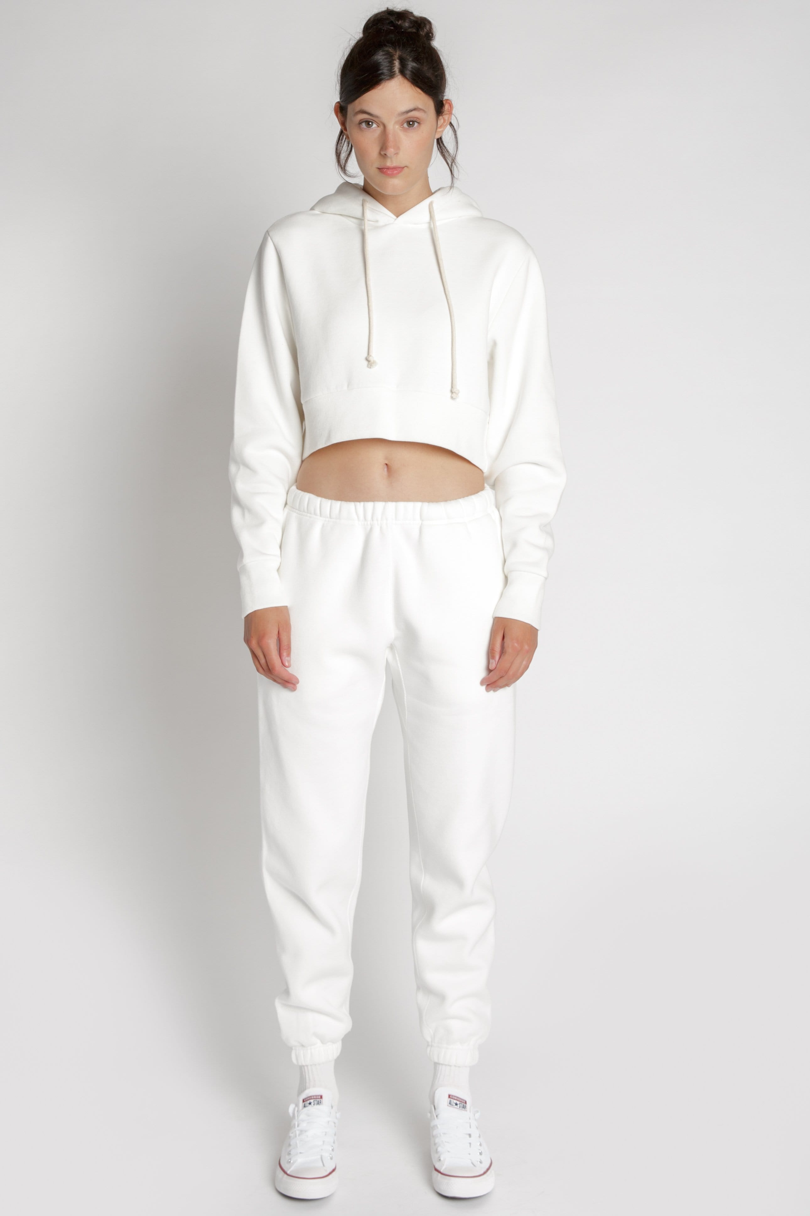 Ready To Dye Cropped Hoodie