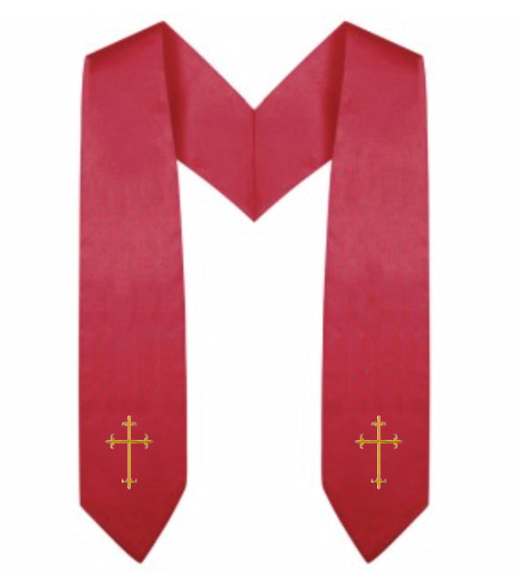 Red Children Choir Stole - Church Choir Robes - ChoirBuy