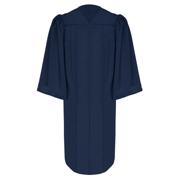 Deluxe Navy Blue Choir Robe - Church Choir Robes - ChoirBuy