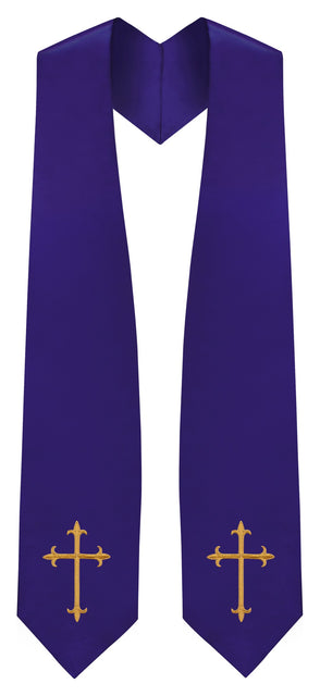 Purple Traditional Choir Stole - Church Choir Robes - ChoirBuy
