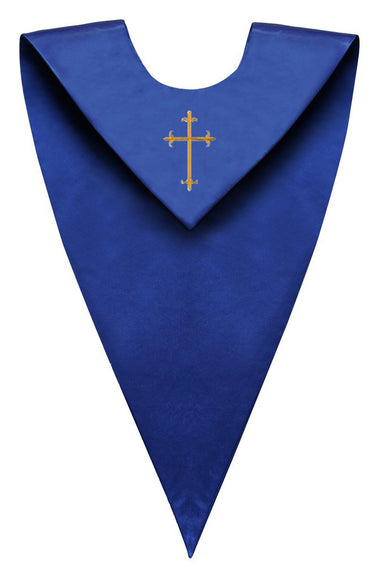 Royal Blue V-Neck Children Choir Stole - Church Choir Robes - ChoirBuy