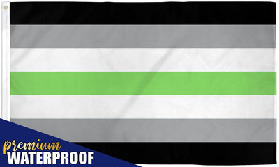 Agender Waterproof Flag 3x5ft Poly