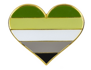 Heart Pride Flag Pins 1""