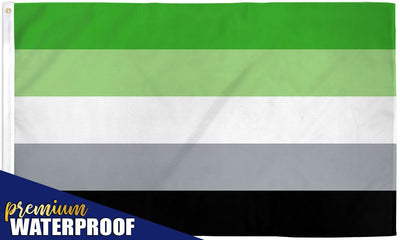 Aromantic Waterproof Flag 3x5ft Poly