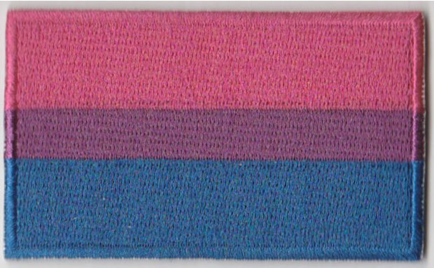 "Bisexual Flag Iron On Patch 2.5"" x 1.5"""