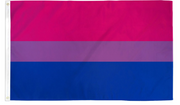 Bisexual 2' x 3' Waterproof Poly Flag
