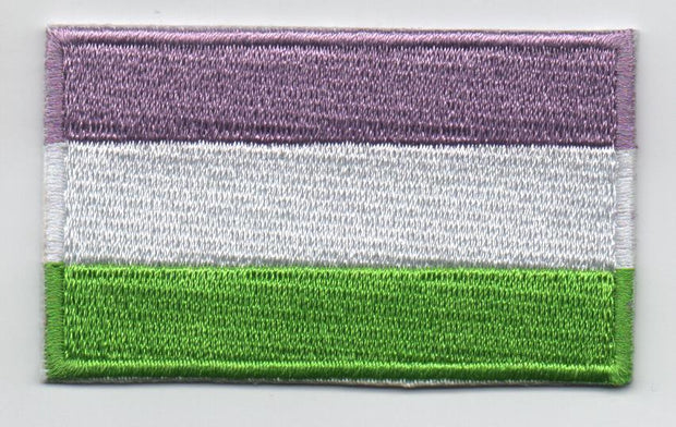 "Genderqueer Flag Iron On Patch 2.5"" x 1.5"""