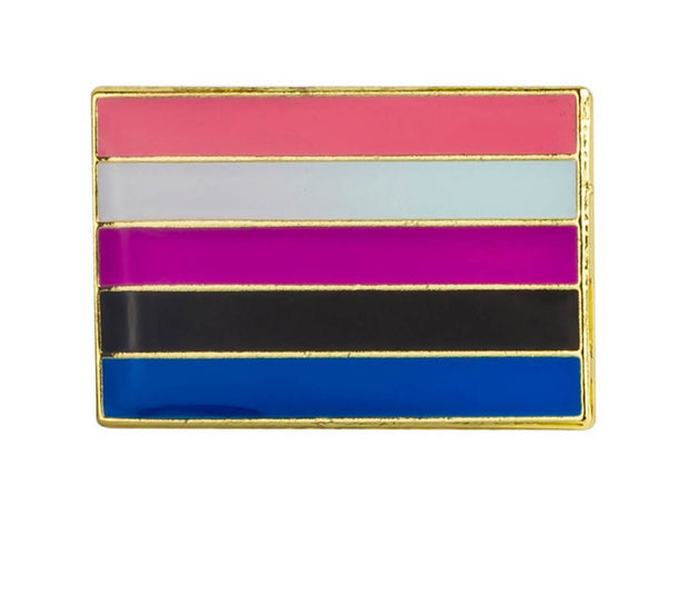 Genderfluid Small Flag Lapel Pin