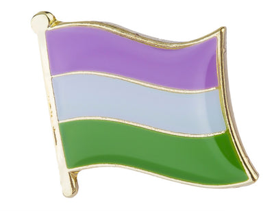 Genderqueer Flag Lapel Pin