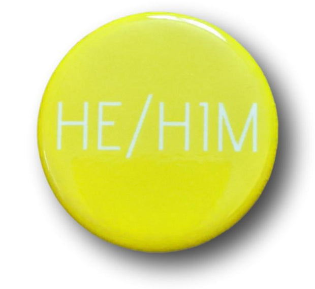 "Pronoun Rainbow 1.25"" Button Sets She/Her He/Him"