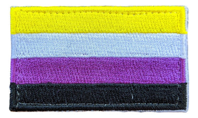 "Non-Binary Flag Hook & Loop(Velcro) Patch 2.5"" x 1.5"""