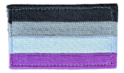 "Asexual Hook & Loop(Velcro) Patch 2.5"" x 1.5"""