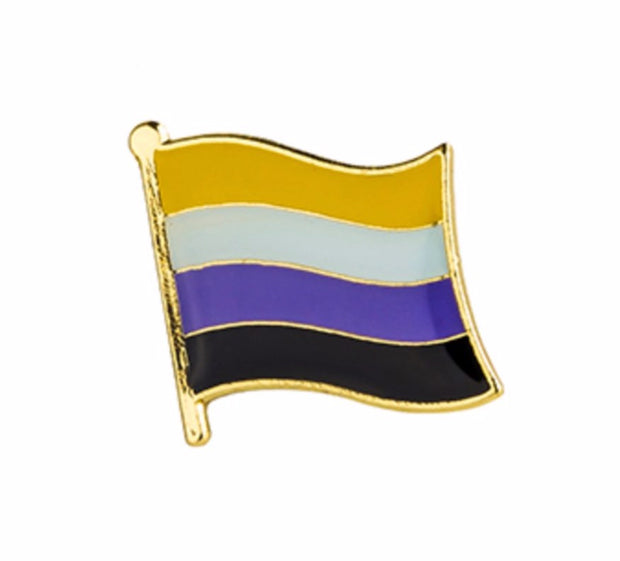 Non-Binary Flag Lapel Pin