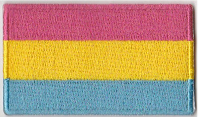 "Pansexual Flag Iron On Patch 2.5"" x 1.5"""